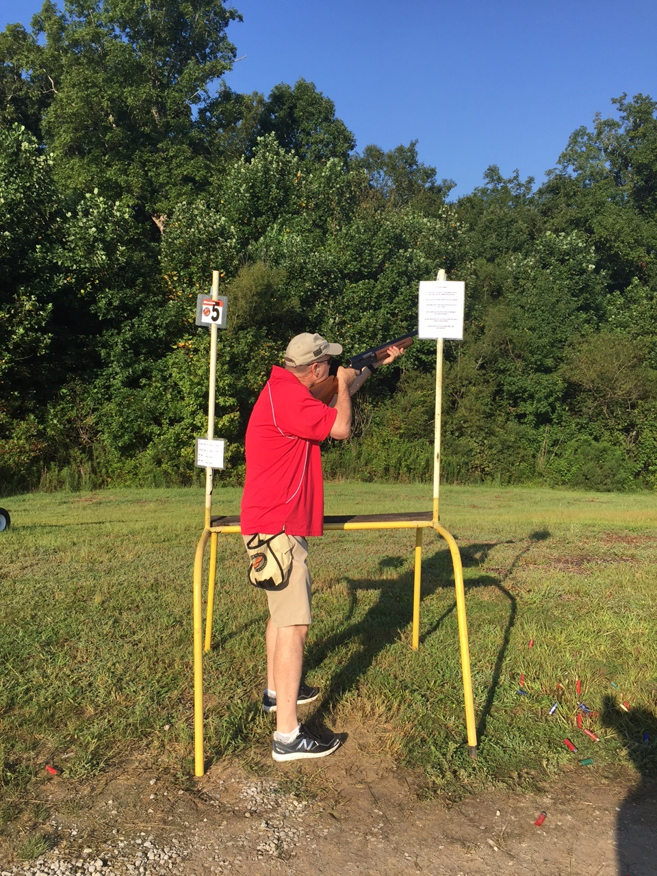 Trent participates in Boy Scout shoot